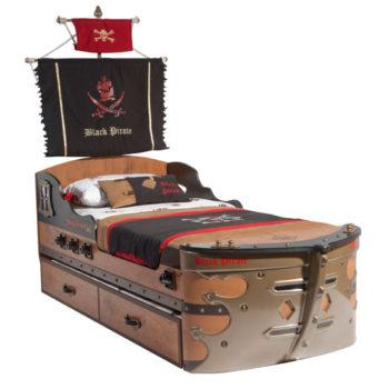 Оригинальная кровать Пиратский корабль CILEK BLACK PIRATE