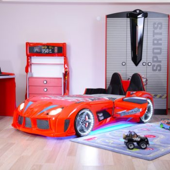 Кровать машина с открывающимися дверями Musvenus 4Д (цвета разные)