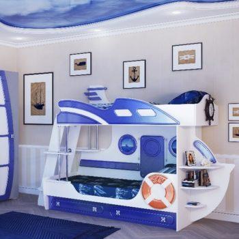 Двухъярусная кровать корабль Лайнер-2