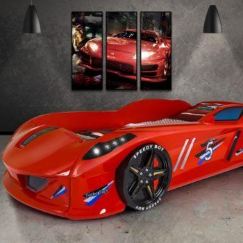 Детская кровать в виде машины Lamborghini SB1 (цвета разные)