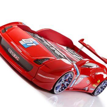 Детская кровать в виде машины V12 Rally