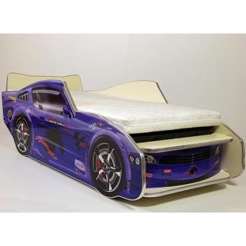 Кровать машина Порше бампер 3Д синяя