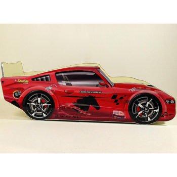 Кровать машина Порше бампер 3Д красная