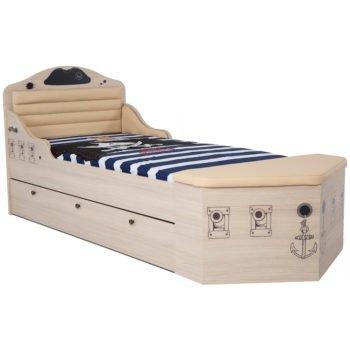 Дизайнерская кровать корабль Pirates-1 (2 цвета)