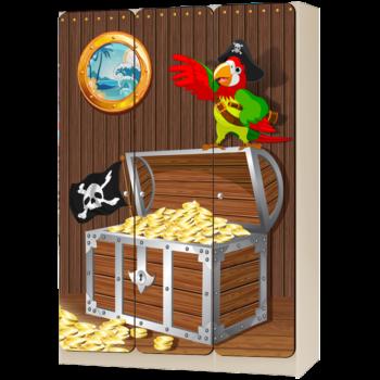 Детский шкаф трехдверный «Пираты»