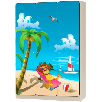 Детский шкаф 3-дверный «Экватор»