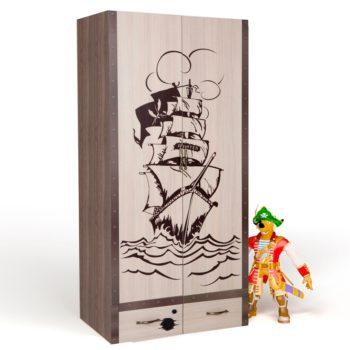 Детский шкаф двухдверный Pirates 1 (4 цвета)