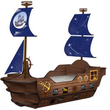 Детская кровать корабль «Пират»
