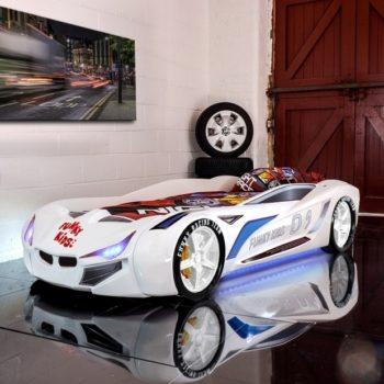 Кровать-машина BMW FK concept белая