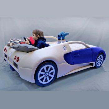 Кровать машина дорого RD Bugatti синяя