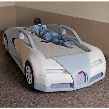 Кровать машина RD Bugatti голубая