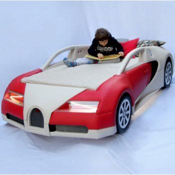Кровать машина ручной работы RD Bugatti красная