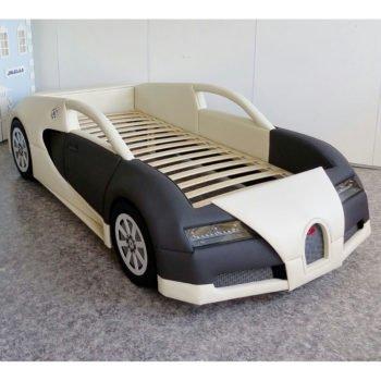 Лучшая кровать машина премиум RD Bugatti черно-белая